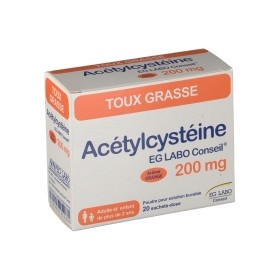Acétylcystéine 200 mg 20 sachets Orange