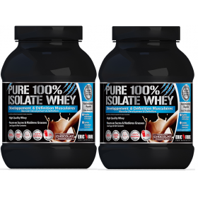 Pure 100% Isolate Whey 2 kg lot de 2